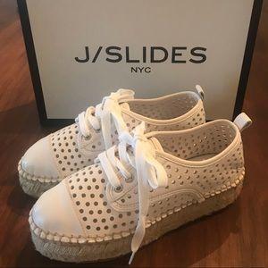 J/SLIDES Riley Platform Espadrille Sneakers NWT